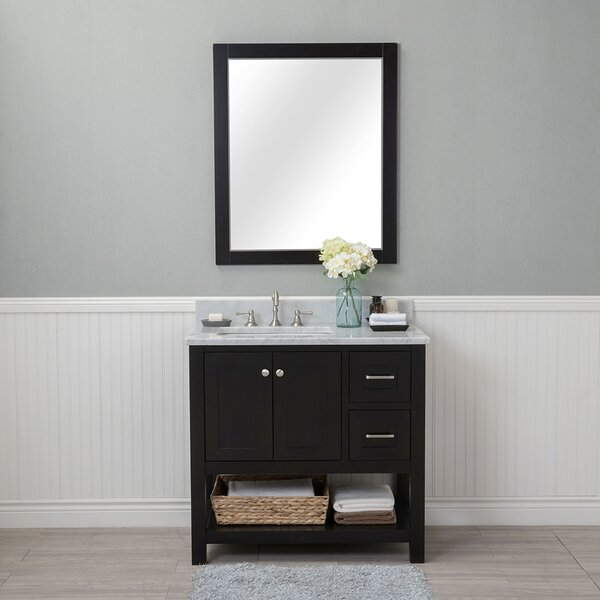 Shae 36 Single Bathroom Vanity Set with Mirror by Darby Home Co