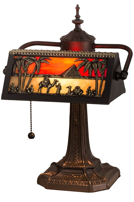 Meyda tiffany camel mission 155 banker lamp reviews wayfair camel mission 155 banker lamp aloadofball