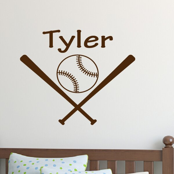 Personalized Baseball Name Wall Decal by Davis Vinyl Designs