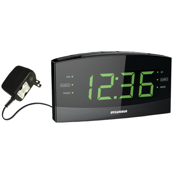 Jumbo Radio Tabletop Clock by Sylvania