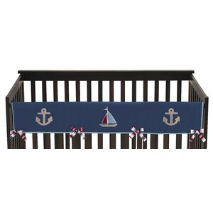 Nautical Nights Long Crib Rail Guard Cover