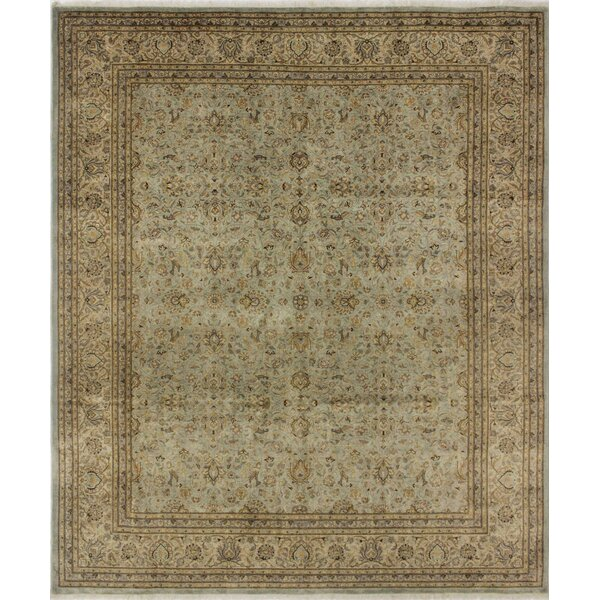 Salamanca Turkish Hand Knotted Wool Green/Brown Area Rug by Astoria Grand
