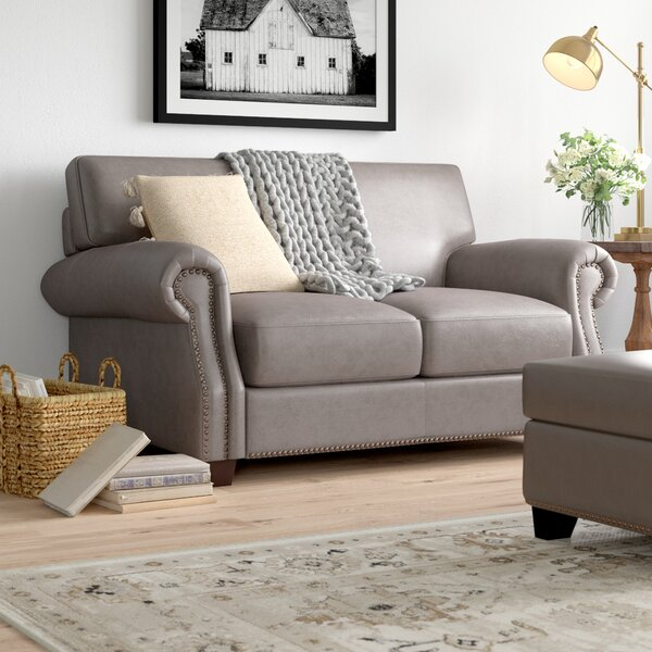 Whipton Leather Loveseat by Three Posts Three Posts