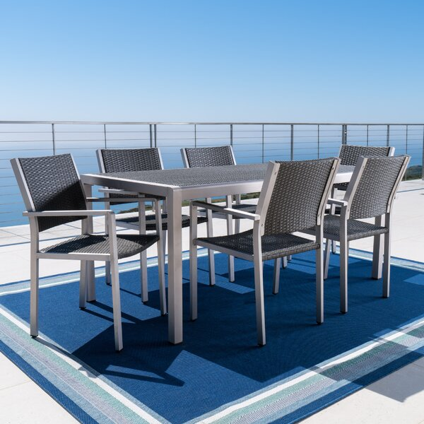 Royalston 7 Piece Aluminum Dining Set by Brayden Studio