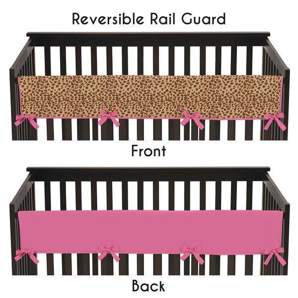 Cheetah Girl Long Crib Rail Guard Cover by Sweet Jojo Designs