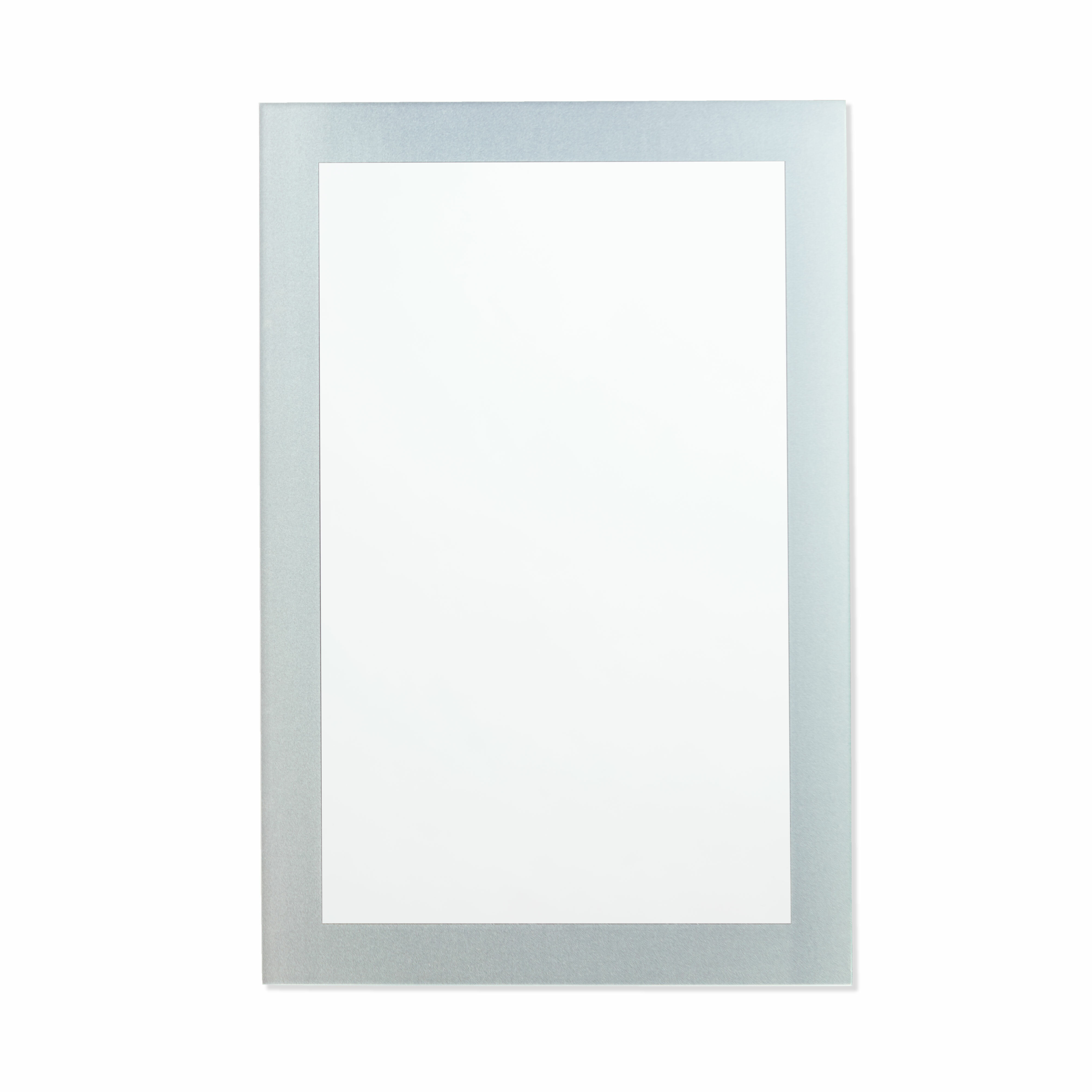 Picture of: Ebern Designs Akerria Frosted Border Frameless Bathroom Mirror Reviews Wayfair