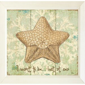 'Starfish I Want to Be Lost at Sea' Framed Graphic Art Print, Poster by Buy Art For Less