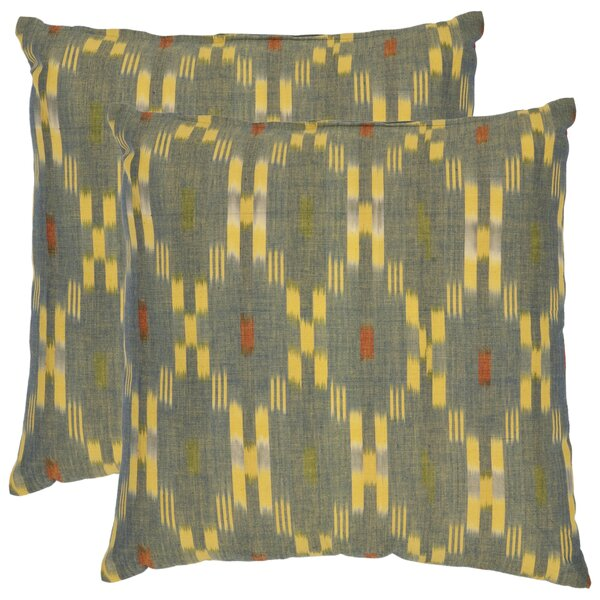 Taylor Cotton Throw Pillow (Set of 2) by Safavieh