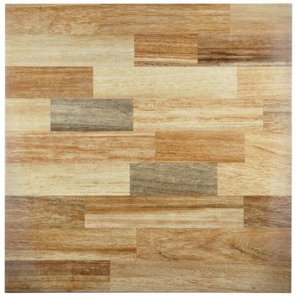 Vaquero 17.75 x 17.75 Ceramic Wood Look/Field Tile in Beige by EliteTile
