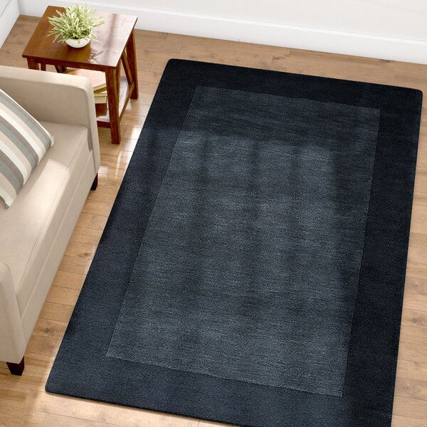 Bradley Hand Woven Navy Area Rug by Winston Porter