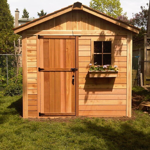 Gardener 8 ft. W x 8 ft. D Wooden Storage Shed by Outdoor Living Today