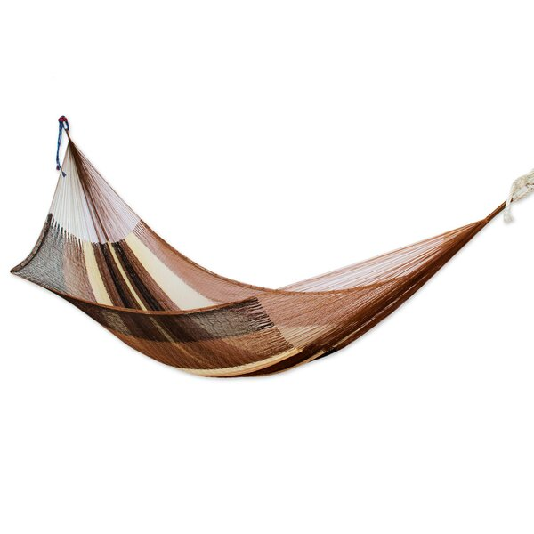 Raglan Hand Woven Double Camping Hammock by Bloomsbury Market