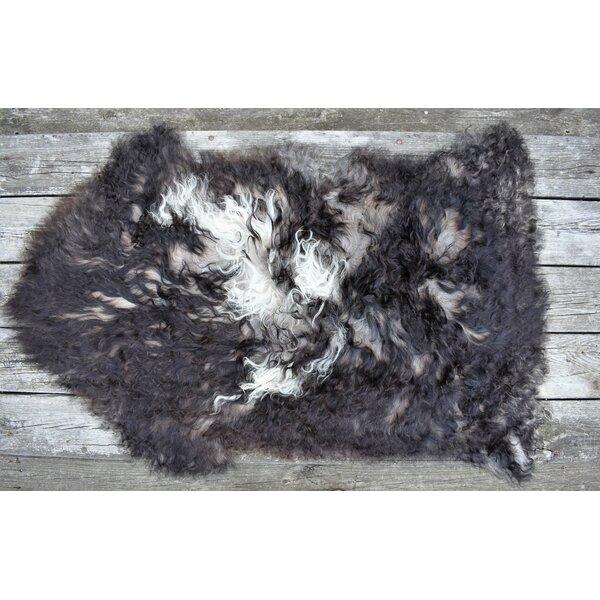 Canchola Animal Print Handmade 2'1 x 3'4 Sheepskin Brown Indoor / Outdoor Area Rug