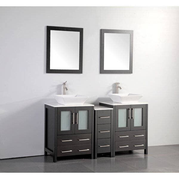 Mehara 60 Double Bathroom Vanity Set with Mirror by Brayden Studio