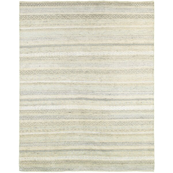 Runge Hand-Knotted Beige Area Rug