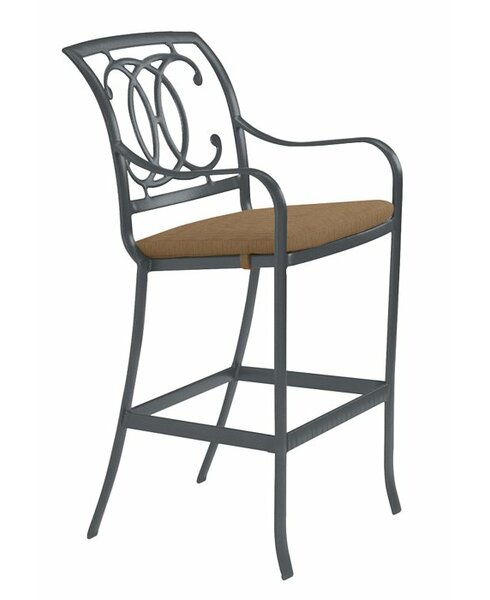Palladian 32 Patio Bar Stool with Cushion by Tropitone