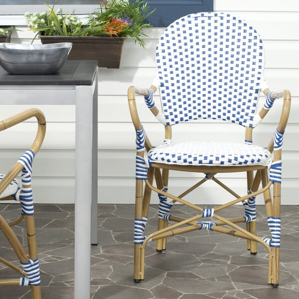 Nikolaos Stacking Patio Dining Chair (Set of 2) by
