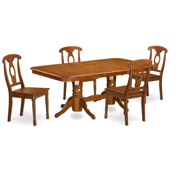 Pillsbury Traditional 5 Piece Wood Dining Set by August Grove