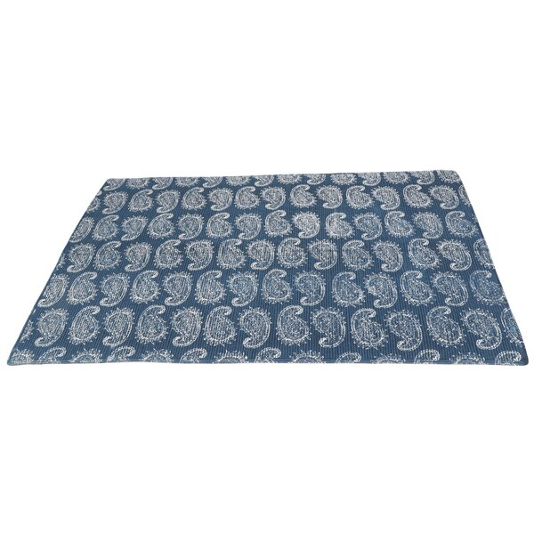 Tod Printed Cotton Blue Area Rug by Winston Porter