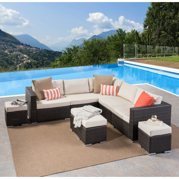 Cabral 9 Piece Sectional Seating Group With Cushions By Sol 72 Outdoor by Sol 72 Outdoor New