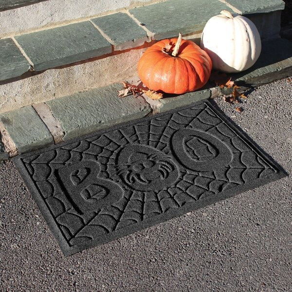 Aqua Shield Boo Spider Doormat by The Holiday Aisle