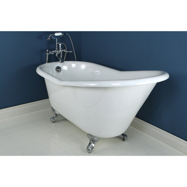 Aqua Eden 61 x 31 Freestanding Soaking Bathtub by Kingston Brass