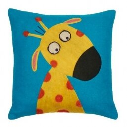 Funny Giraffe Wool Throw Pillow by Amity Home