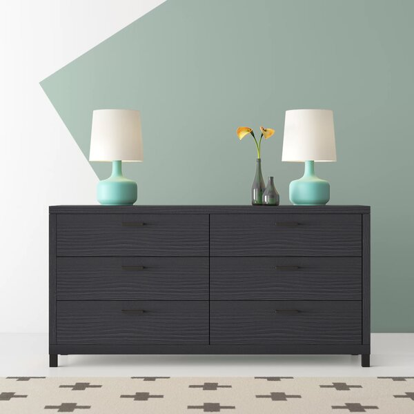 Edwidge 6 Drawer Double Dresser by Hashtag Home
