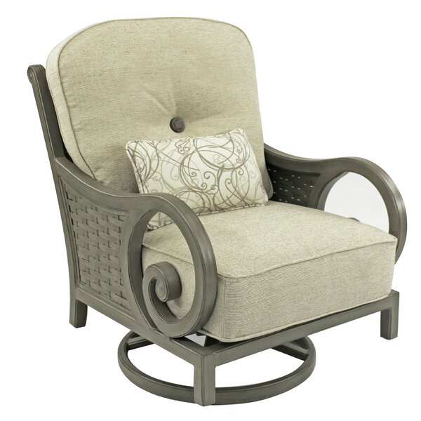 Riviera High Back Swivel Rocking Chair with Cushion by Leona