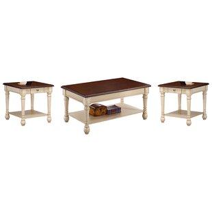 Oakside 3 Piece Coffee Table Set Three Posts