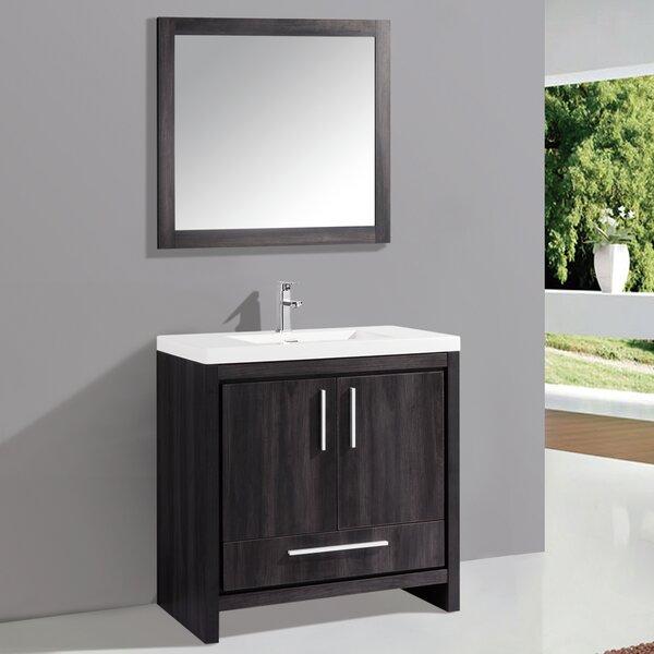 Peiffer 36 Single Sink Bathroom Vanity Set with Mirror by Orren Ellis