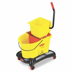 Commercial Wavebrake 35-qt. Dual Water Side Press Mop Bucket and Wringer