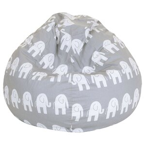 Elephant Print Bean Bag Chair by Viv + Rae