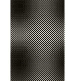 Kasey Elegant Cross Design Black/White Indoor/Outdoor Area Rug by George Oliver