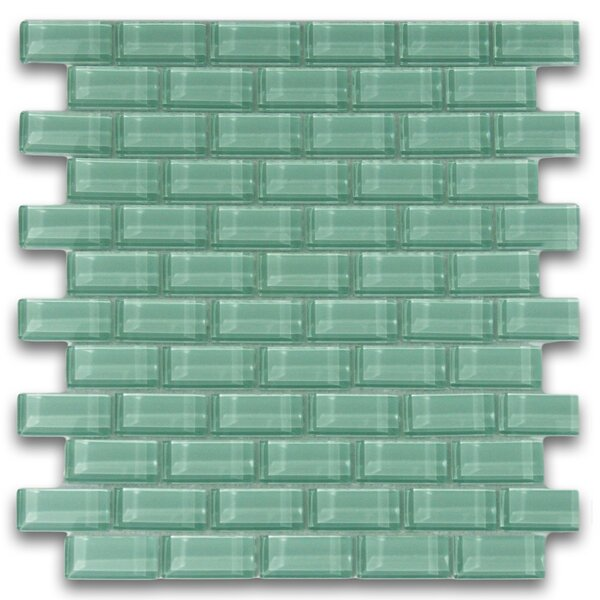 Californium 1 x 2 Glass Mosaic Tile in Sage Green by CNK Tile