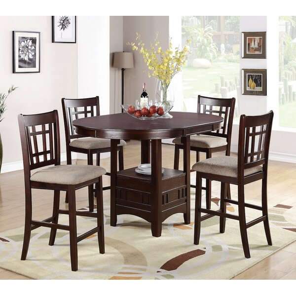 Paislee 5 Piece Counter Height Dining Set by Winston Porter