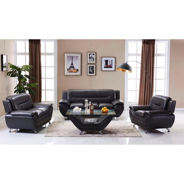 Caravel 3 Piece Living Room Set By Orren Ellis Sale