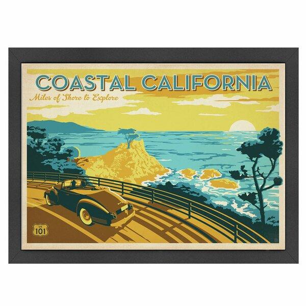 Coastal California Framed Vintage Advertisement by East Urban Home
