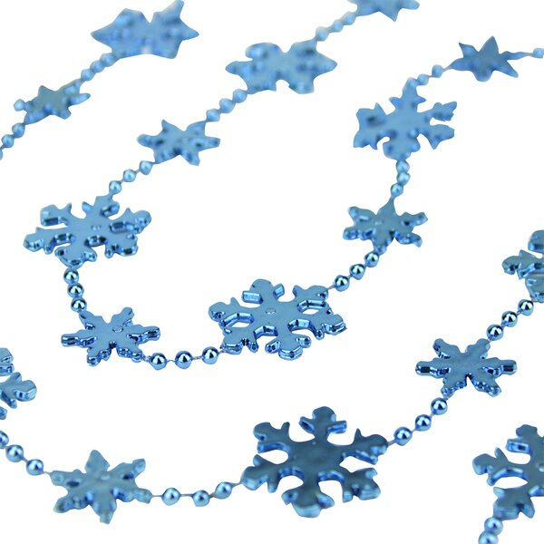 Snowflake Cascade Bead Garland by The Holiday Aisle