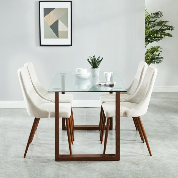 Roxanna Contemporary 5 Piece Dining Set by Wrought Studio