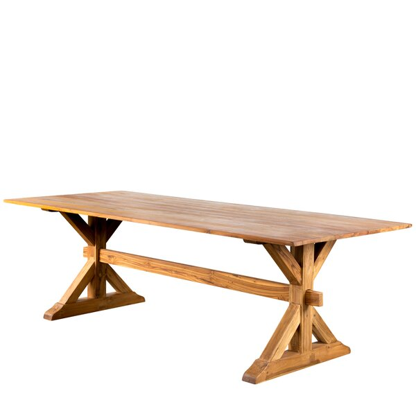 Trestle Gathering Solid Wood Dining Table by Wildon Home®