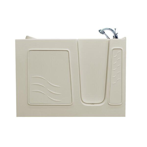 Ashton 52.8 x 29.5 Soaking Bathtub with Right Drain by Therapeutic Tubs