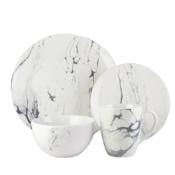 Mcfall 16 Piece Dinnerware Set, Service for 4 by Wrought Studio