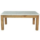 Easterling Teak/Marble Coffee Table with Tray Top by Brayden Studio®
