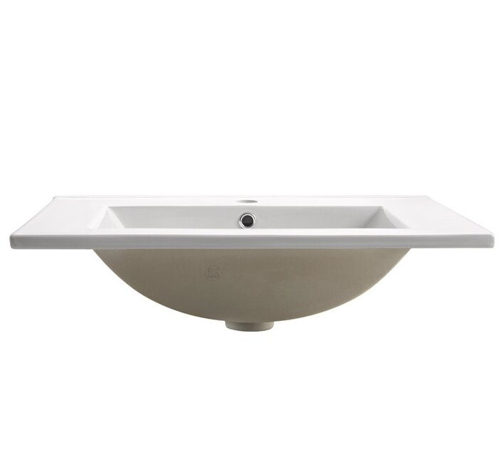 Allier Ceramic Rectangular Drop In Bathroom Sink With Overflow Reviews Allmodern