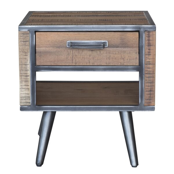 Kirchoff 1 Drawer Nightstand by Union Rustic