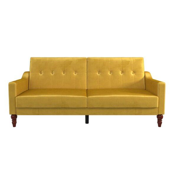 Beatrice Tufted Back Convertible Sofa by Novogratz Novogratz