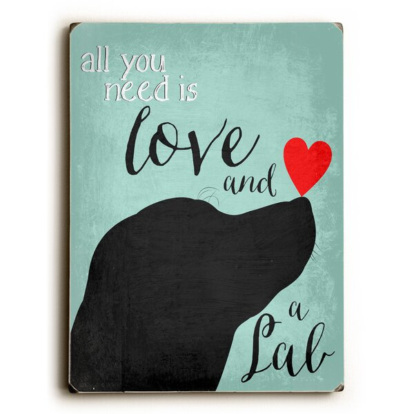 Love and a Lab Graphic Art by Artehouse LLC