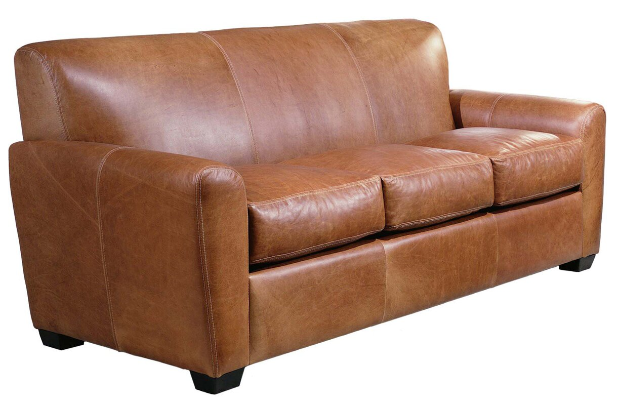 Charmant Jackson Leather Sleeper Sofa