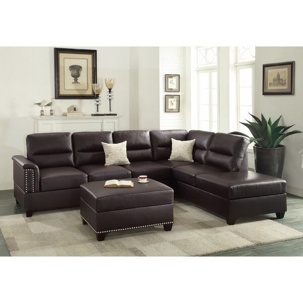 Good Quality Reversible Sectional by Infini Furnishings by Infini Furnishings